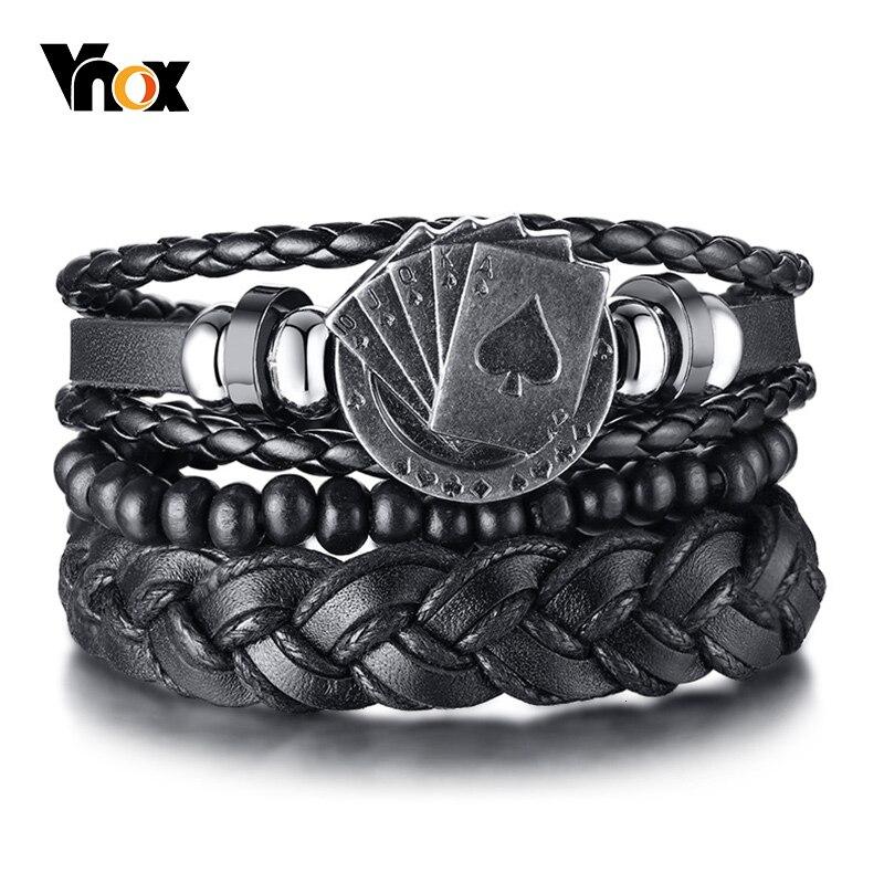 JUNRR Leather Handcuffs witn Chain Adjustable Wrist Cuffs (R1-88)