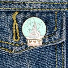 Qihe ювелирные изделия Готический замок Броши знаменитых фейерверк