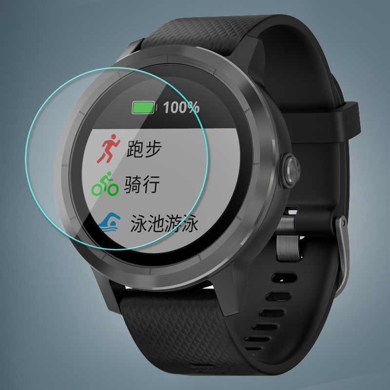 Película protectora templada para Garmin vivo Active 3 pulsera inteligente Protector de pantalla completa película protectora de 0,26mm