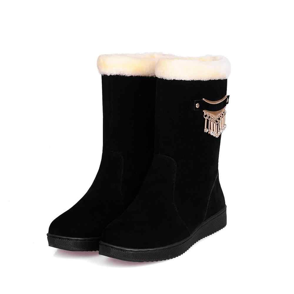รองเท้าผู้หญิงฤดูหนาวรอบ Toe Luxury Designer หนังรองเท้าส้นแบนออสเตรเลีย Lace Up 2019 แฟชั่น Med Elegant ยาง