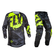Fly Fish Motorcycle Motocross S Jersey + Broek Gear Racing Racewear Mx Mtb Atv Bike Roupa Motocross Jersey Broek Moto kleding(China)