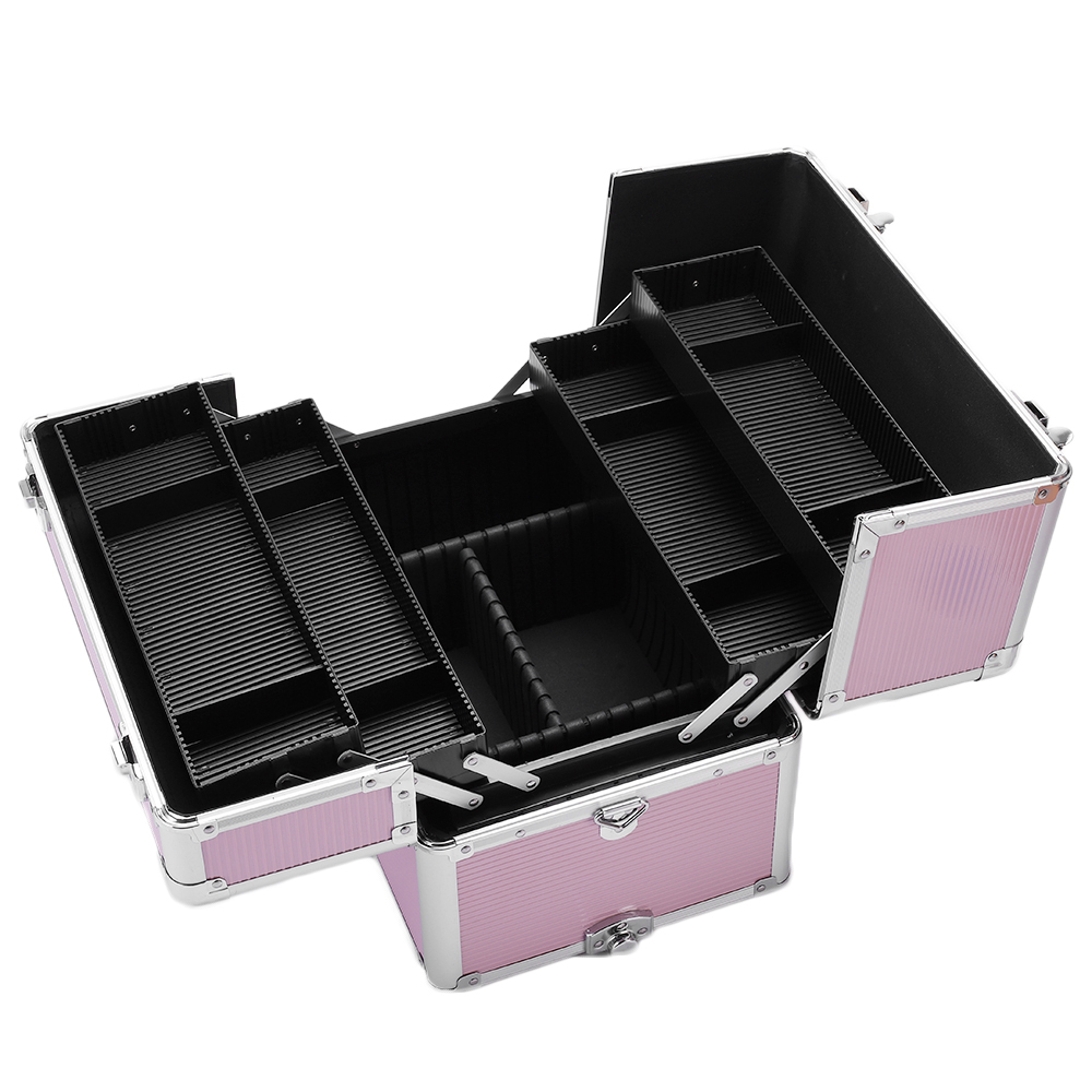 Multifunction 3 In 1 Aluminum Cosmetic Makeup Case Tattoo Box Storage Organizer Trolley Travel Cosmetic Bag Women Makeup Bags