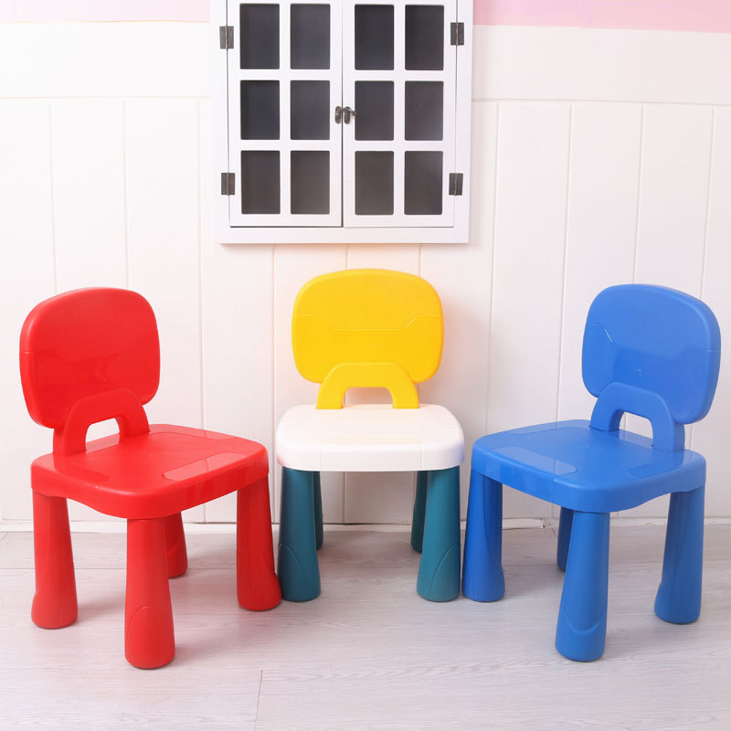 Child Chair Plastic Thicken Household Stool Dining Chair Baby  Small Bench Kindergarten Children Plastic Stool Home Furniture