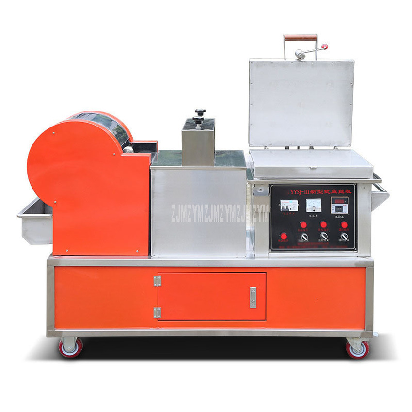Multi-function Commercial Squid Machine Electric Automatic Squid Baking and Flattening and Cutting into Strip Machine 220V 3.3KW 1