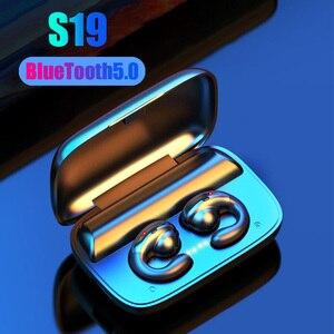 Image 2 - TWS S19 headphones Bluetooth 5.0 Earpieces IPX7 sport Waterproof earbuds Works on all Android iOS smartphones Wireless earphones