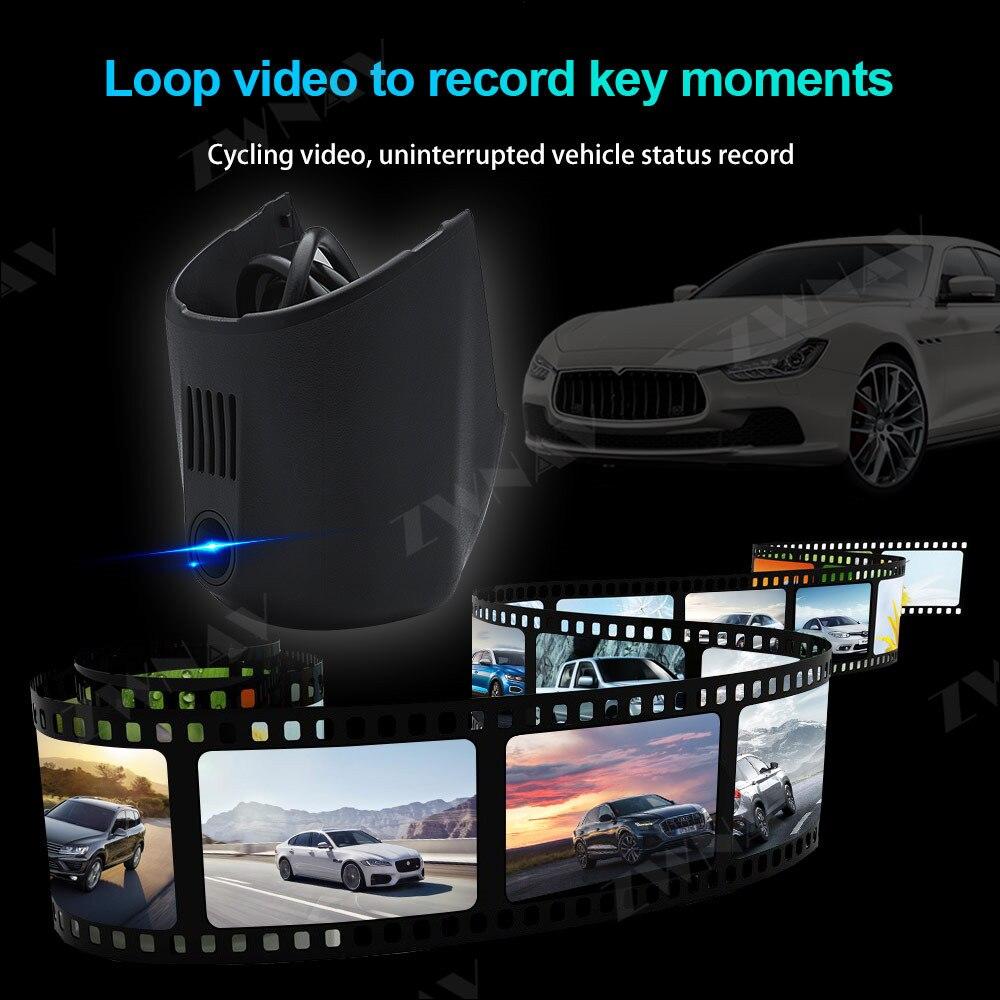 Tipo escondido hd gravador de condução dedicado para audi a1 a4l a6l a7 q5, audi a3 2015 dvr traço cam câmera frontal do carro wifi - 4