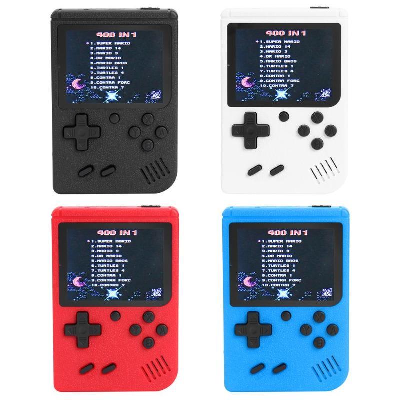 Pantalla a Color de 3,0 pulgadas consola de videojuegos portátil incorporada 400 juegos clásicos Retro máquina de jugadores portátiles para juegos FC Juego de cartas de póquer de plástico resistente al agua de Texas Holdem