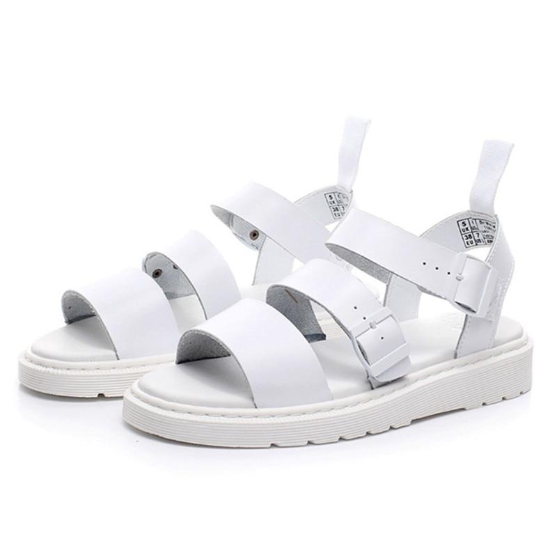 2020 New White Women Sandals Genuine