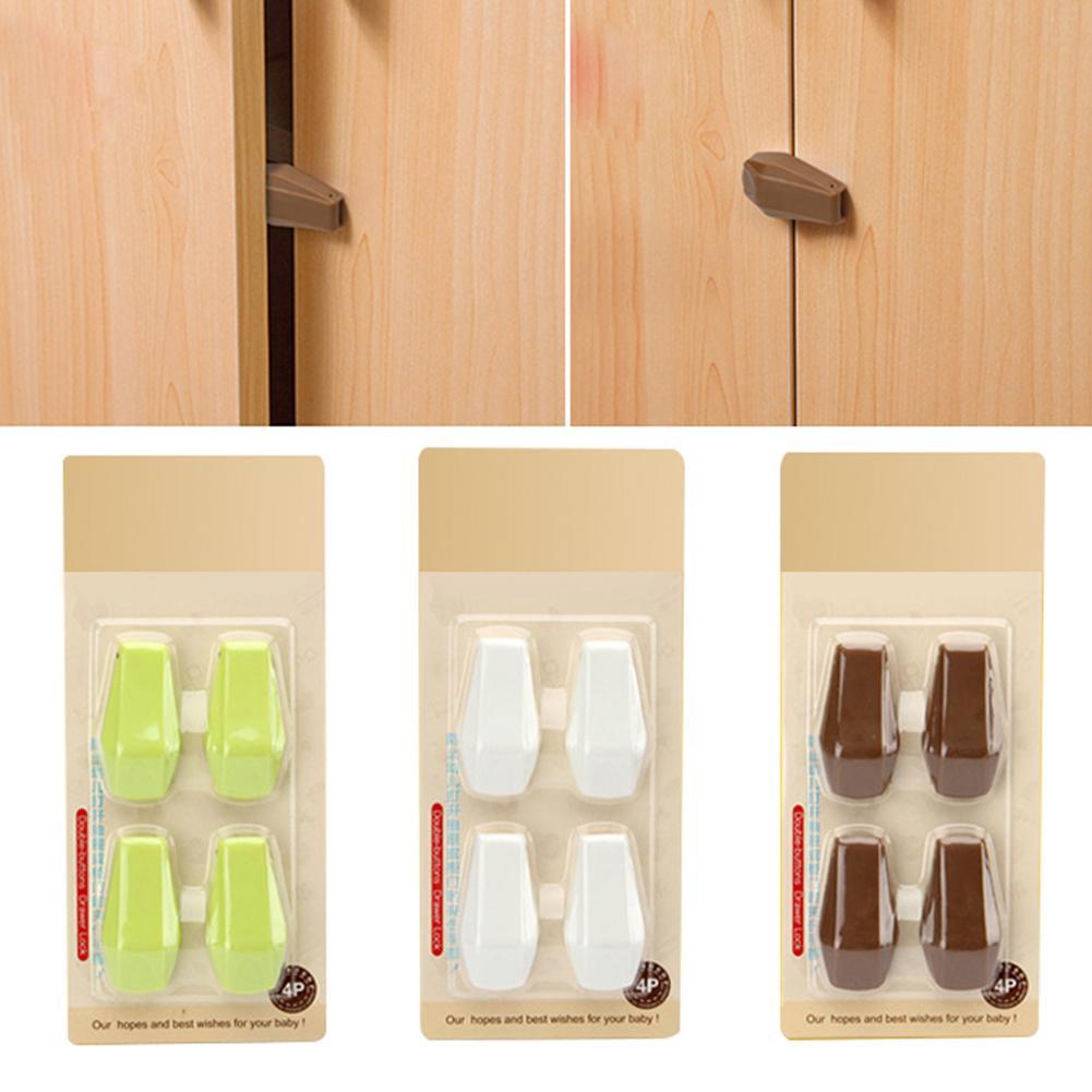 4 Pcs Baby Kids Box Drawer Cupboard Cabinet Wardrobe Door Fridge Safety Locks Tool Baby Hand Protection Device