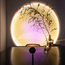 LED Night Light Atmosphere Projector Lamp Rainbow Sunset Lighting for Home Room Background Wall Decor Portable USB Table Lamp