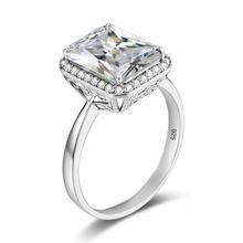 Женское кольцо из серебра 925 пробы с квадратными камнями и