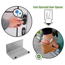 Abridor de pie de Hardware para puerta abridor de puerta de pie de Manos libres personalizado abridor de pie de acero inoxidable cómodo y de mano rápida Manos libres