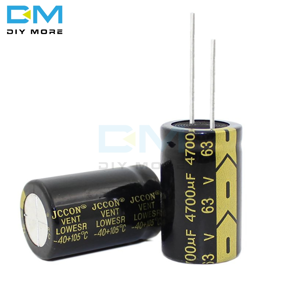 Aluminum Electrolytic Capacitor 63V 4700uF 22x35mm High Frequency Low ESR 63V 4700uF 22*35mm Capacitor Diymore