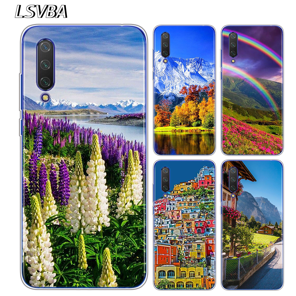 <font><b>Amazing</b></font> nature Style for <font><b>Xiaomi</b></font> Mi Note 10 9 8 9T CC9 E SE F1 Mix 3 Play A3 A2 A1 6X 5X Pro Lite Phone Cases image