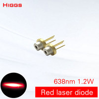 High quality 638nm 1.2W big power red light laser diode Semiconductor Photoelectric Laser module accessories laser light source