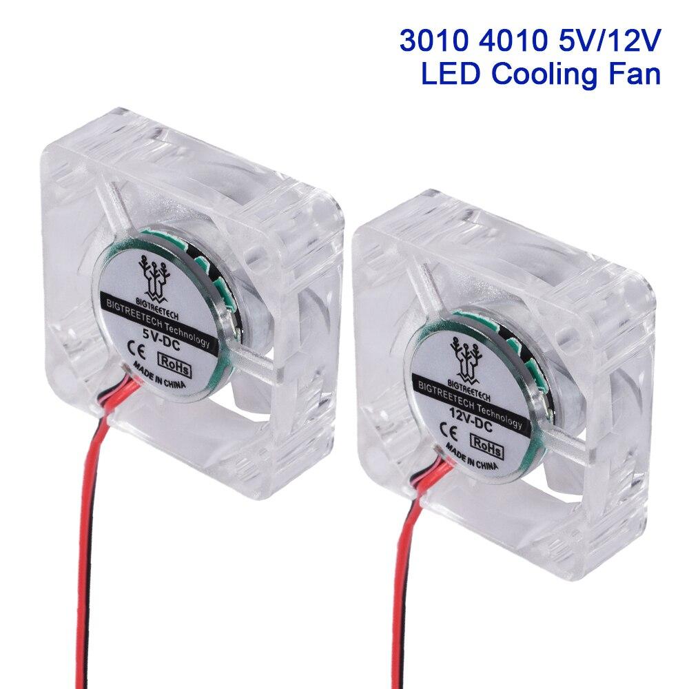 Вентилятор охлаждения BIGTREETECH для ПК со светодиодсветильник кой, 3010, 4010, 5 В, 12 В