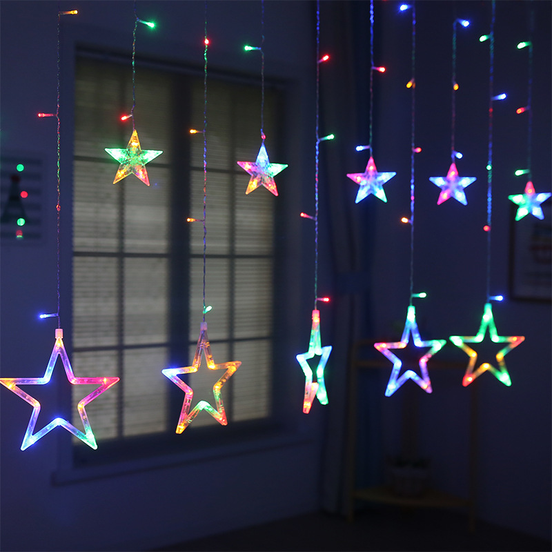 Led String Lights Christmas Fairy Lights Festoon Star Garland Window Curtain Indoor Decoration Halloween Holiday Wedding Light