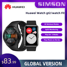 HUAWEI-reloj inteligente gt2, dispositivo resistente al agua 5ATM, con control del ritmo cardíaco, Pantalla AMOLED de 1,39 pulgadas y 14 días de duración