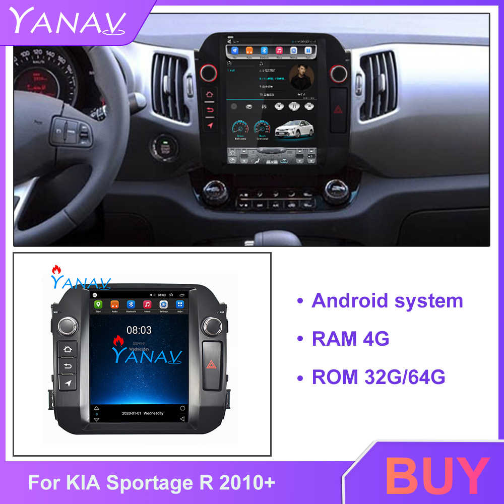 Car DVD Multimedia player Navigatore GPS Per KIA Sportage R 2010 + sistema Android car DVD stereo Radio Tesla Verticale touch screen