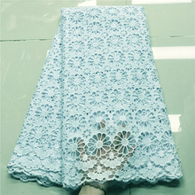 Lace-Fabric Cord Stones Guipure WHITE French High-Quality African Wedding-5-Yards Latest