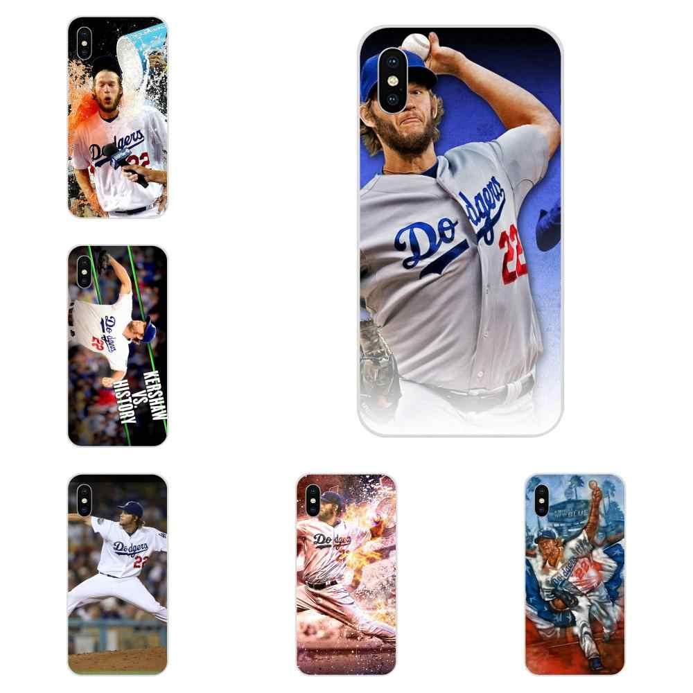 Clayton Kershaw เบสบอลเดิมสำหรับ Apple iPhone 4 4S 5 5C 5S SE 6 6S 7 8 plus X XS Max XR ปกหลัง Slim