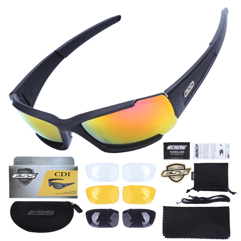 American Style Ess Cdi Explosion-Proof Glasses Army Fans CS Shooting Glasses Bulletproof Tactical Eye-protection Goggles Polariz