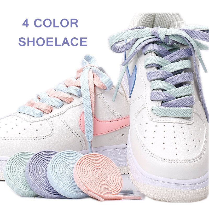 1Pair Flats Shoelace For AJ/AF Shoelaces Off Sneaker White Shoes Lace For Women And Men Shoelace 4 Colors