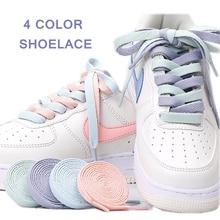 1Pair Flats Shoelace For AJ/AF Shoelaces Off Sneaker White Shoes Lace Women and Men 4 Colors