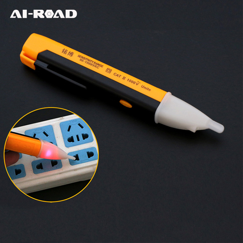 Electric Indicator 90-1000V Socket Wall <font><b>AC</b></font> Power Voltage Detector Sensor Tester Pen LED Light Indicator Measuring DIY Hand <font><b>Tool</b></font> image