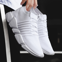 Men sports shoes White sneakers Air Mesh Breathable Light we