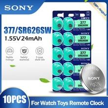 10 шт. SONY 377 377A SR626SW AG4 SR626 LR66 LR626 AG 4 1,55 в, оксид серебра, батарея для часов, игрушечного автомобиля, пульт дистанционного управления, монетница
