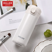 DILLER MLH8737 Thermos Double Wall 304L Stainless Steel Vacuum Flasks Thermos Cup Coffee Tea Milk Travel Mug Water Bottle