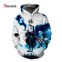 Mens Womens 3D Sweatshirt Anime Hoodies Starry Galaxy Graphic Print Cartoons Pullover Tracksuit Pocket Outerwear Tops
