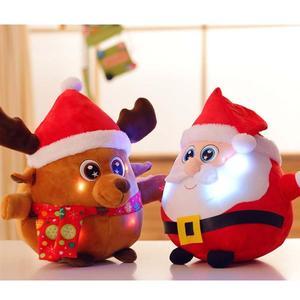 Peluche de alce para niños y niñas, muñeco de felpa con música de Papá Noel y alce ligero, decoración del hogar, regalo de Navidad, recuerdos de fiesta para niños y niñas, A35