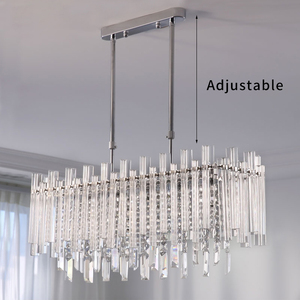 Image 2 - Modern Chandelier for Dining Room High Quality Clear Crystal Lampshade Lamp For Living Room LED Chandeliers Indoor lighting