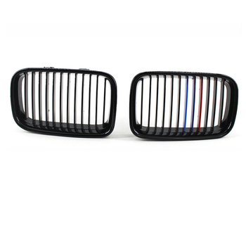 Front Kidney Grille Grill Gloss Black For BMW E36 318IS 325i M3 Coupe Sedan 1992-19997 image