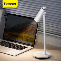 Baseus i-wok Stepless Dimmable Desk Lamp Table Reading light Eye Protection LED Desk Lamp USB Rechargeable Work Study Table Lamp
