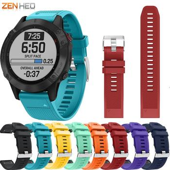 22mm Silicone Strap for Garmin Fenix 6/5/5 Plus Smart Watch Band Quick Release Easy Fit Watchband For Garmin Forerunner 935 945