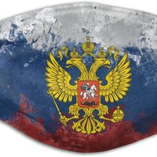 Face-Mask Russia Federation Flags Adults for Kids Emblems Dust-Proof Eagles Multifunctiona