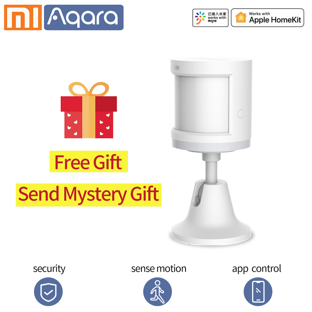 Aqara Movement Sensor Human Body Motion Sensor PIR Sensor For Xiaomi Homekits Zigbee WIFI Work Mi Home App