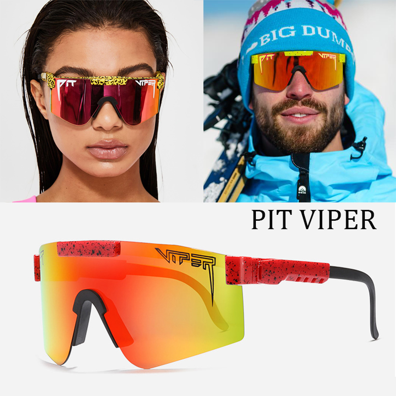 AgoKud Pit Viper Sunglasses Adjustable Temples,Uv400 Mirrored Lens Eyewear,Outdoor Windproof Polarized Sunglasses for Men and Women-C12