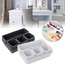 8 unids/set caja organizadora del cajón del hogar bandejas de almacenamiento de la caja de almacenamiento de la Oficina de la cocina del baño