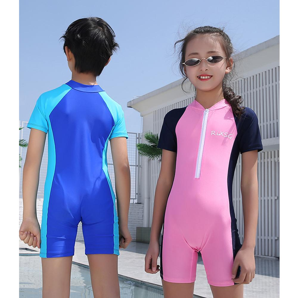 Kids Diving Suit Wetsuit Children for Boys Girls Keep Warm One-piece Long Sleeves UV protection Swimwear