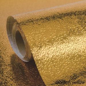 Image 5 - 40x100cm szafka kuchenna naklejka ścienna anty olejowa wodoodporna aluminiowa naklejka foliowa ochrona mebli naklejki ścienne z PVC