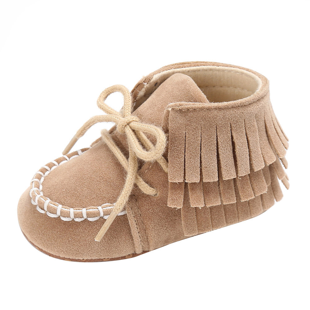 SAGACE Baby Shoes Newborn Baby Boy Girl Moccasins Shoes Fringe Tassel Soft Soled Anti-Slip Footwear Crib Shoes PU First Walker