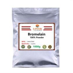 100% poudre de bromélaïne de première qualité, Non-ogm, Enzyme protéolytique, Anti-inflammatoire, soutient la santé des articulations, favorise l'absorption des nutriments
