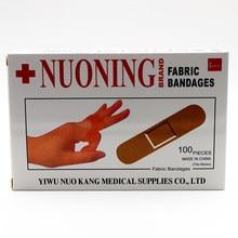 Adesivo de primeiros socorros com bandagem, adesivo para calcanhar, emplastro adesivo de cores aleatórias, etiqueta estéril, 100