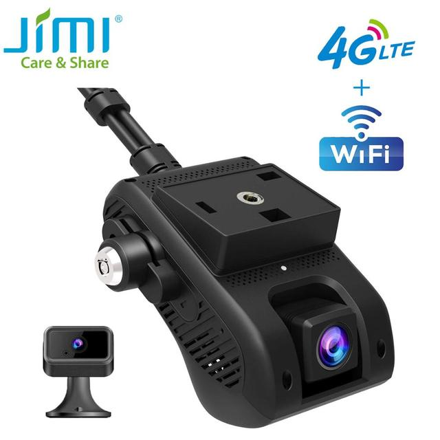 Jimi JC400 4G Dash Cam With Live Streaming GPS Tracking Remote Monitoring WiFi Multiple Alerts Via APP PC Car Camera For Vehicle