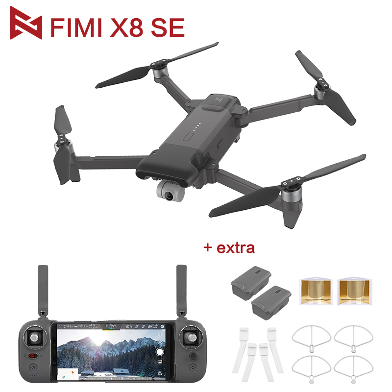 En gros Original FIMI X8 SE RC Drone Noir avec 4K Caméra HD 5KM FPV 33 minutes Vol RTF Batterie Pièces D'atterrissage Cadeaux