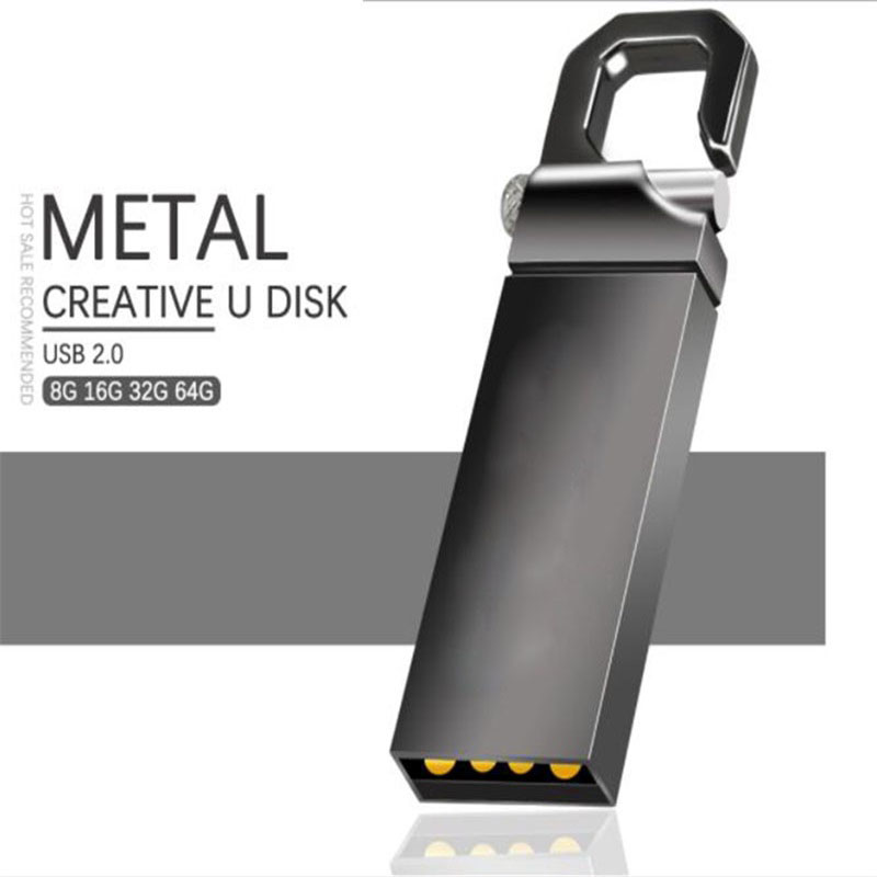 Metal Pen Drive 64GB Memoria Usb Flash Drive 8GB 4GB Flash Usb 2.0 16GB 32GB Pendrive 128GB Memory  Cle Usb Stick Logo